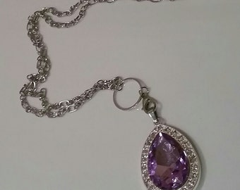 Free Shipping! Sofia amulet necklace, purple amulet necklace
