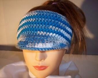 Hand Crocheted Woman's Headband/Ponytail hat