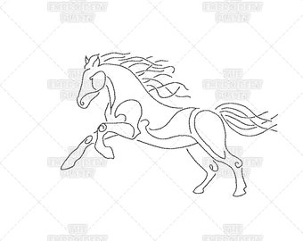 Epona Celtic Horse Goddess Quick Stitch Machine Embroidery Pattern Design