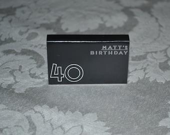 25 Custom Designed Matchbox Birthday Favors