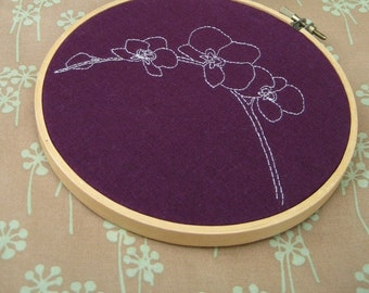 orchids hand embroidery