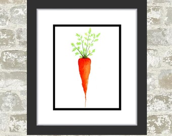 GICLEE PRINT, Vegetable Painting - Watercolor Print - Food Art - Carrot Painting, Food Painting, Kitchen Art, Veggie Print - Onion Picture