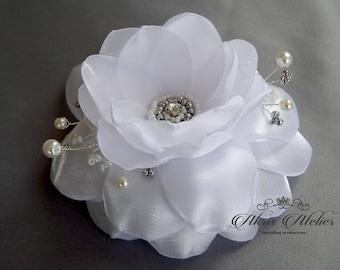 Wedding  hair flower, bridal hair flower, Ivory flower, hair clip, weddings accessories, bridal hairpiece, Bridal headpiece