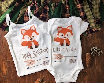 Matching sister outfits, matching sibling outfits, matching sister shirts, matching sibling shirts, little sister coming home outfit