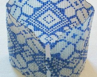 Blue Knit bracelet