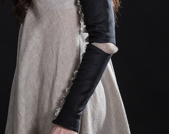 "Sleeves ""Spiderweb""; Detachable sleeves; Black Sleeves"