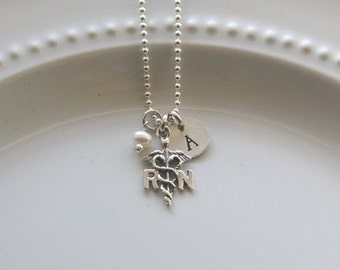 RN Necklace - Nurse Necklace - Personalized Nurse Necklace - Nurse Graduation Gift - Nurse Jewelry - Nurse Thank You Gift - Nurse Gift