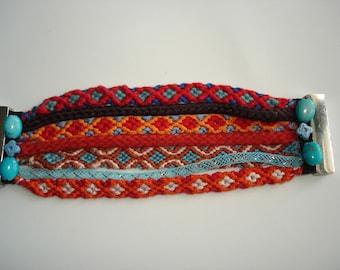 Friendship Cuff Bracelet handmade very good condition