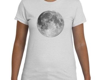 Full Moon White TShirt Women