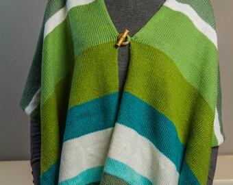 Green poncho
