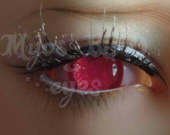 12mm Neon pink acrylic eyes