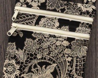 Lace Print Cross Body Purse