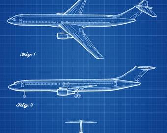 Boeing Airplane Patent - Airplane Blueprint, Pilot Gift, Aircraft Decor, Airplane Poster, Vintage Aviation Art, Airplane Art, Boeing Patent