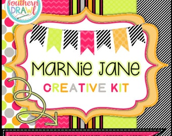 Digital Scrapbooking Papers and Frames MARNIE JANE Creative Kit