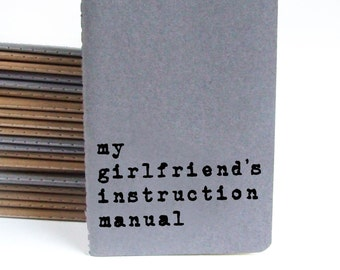 Boyfriend Gift, Valentine's Day Gift; Gift for boyfriend, MOLESKINE® notebook; journal; my girlfriend's instruction manual; Lesbian Gift.