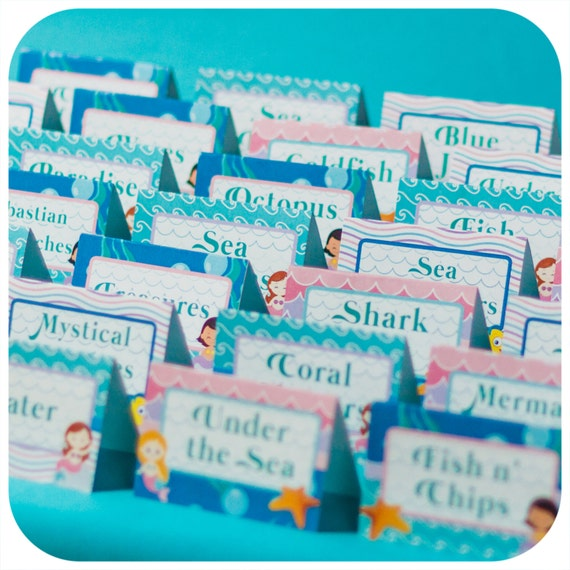 Under the sea party food tents little mermaid pdf birthday under the sea party food tents little mermaid pdf birthday party food labels mermaid party little mermaid party decorations party decor forumfinder Gallery