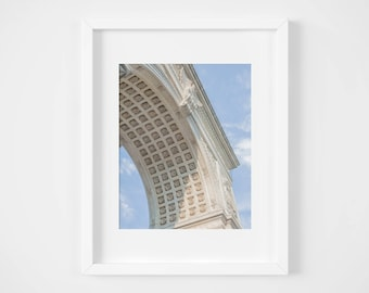 Greenwich Village print - Washington Square Arch photo - Manhattan landmark art - City wall decor - Travel photo - New York City print -