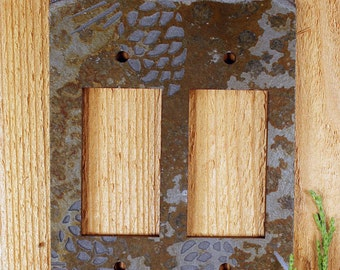 Real Slate Switch Plate Covers - Pinecone