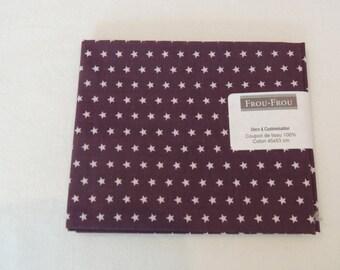 Fabric cotton pink plum star patch
