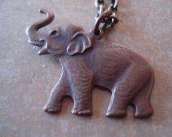 Elephant Charm Necklace Jewelry Brass Charm