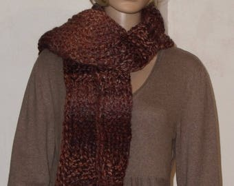 Knitted Brown warm scarf