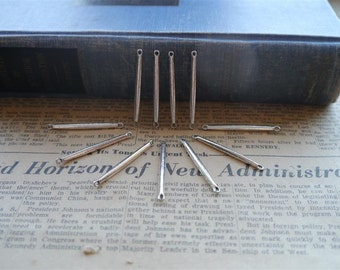 10pcs Antique Silver Bar Connectors- Great for geometric chevron necklaces (SC1050)