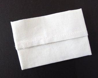 Plain White Handkerchief, Vintage Hankie, Unused, in Factory Folds