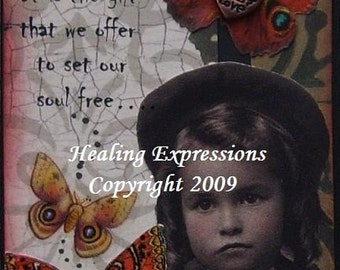 FORGIVENESS altered art collage therapy abuse recovery hope  aceo ATC PRINT