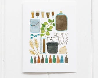 Fathers Day Card | Beer Card | Fathers Day | Greeting Card | Homebrew Card | Brewers Card | Gifts for Him | Fathers Day Gifts | Beer