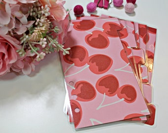 Cherry Themed Dividers : Set of 6 | Divider/Bookmark