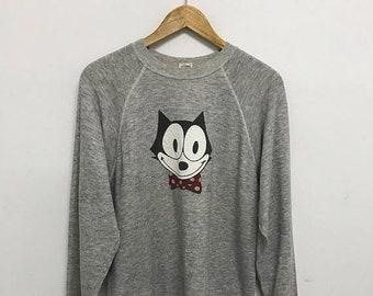 20% OFF Vintage 1996 Felix The Cat By Levis Sweatshirt/Vintage Levis/Vintage Cartoon Shirt/Vintage Sweater Levis