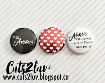 "3 buttons 1 ""my love"