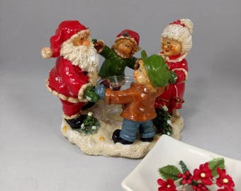 Candle Holder-Mr. and Mrs. Santa Clause