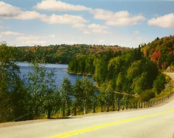 Landscape Photography Fall Highway through Algonquin Park on  Blank Note Card - Autumn colors Perfect All Occasion Note Card