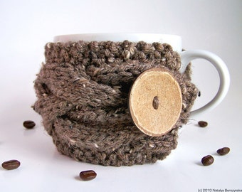 Knitting Pattern, Coffee Cozy PATTERN, Tea Cozy Pattern, Mug Cozy, Coffee Cup Cozy Pattern, Cup Sleeve, Knit Cup Cozy, Instant Download
