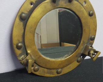 Brass Porthole Mirror Picture Frame