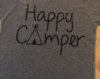 Happy Camper Youth Tri Blend Tee