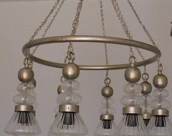 handmade modern Pyrex glass chandelier