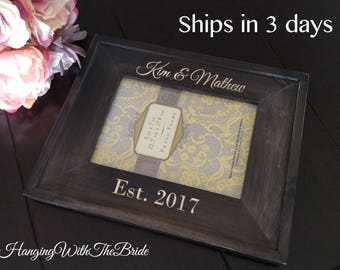 Personalized Picture Frame, Custom Picture Frame, Personalized Photo Frame, Custom Photo Frame, Wedding Gifts, Custom Frame