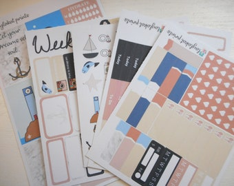 Nautical Dreams Weekly planner sticker Kit | Happy Planner