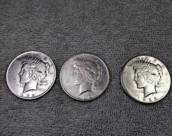 1922 P D S Silver Peace Dollar