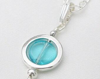 Circles pendant - aquamarine