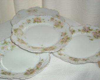 Set of 5 Pretty vintage German salad / dessert plates