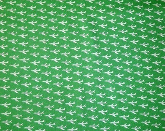 SALE - Fabric - Sevenberry- areoplane cotton print.