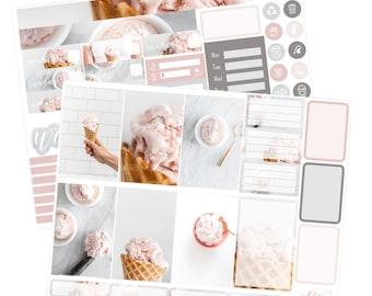 Big Happy Planner Stickers / Ice Cream Stickers / Planner Stickers / Summer Planner Stickers / Weekly Sticker Kit / Photo Kit / PHL6