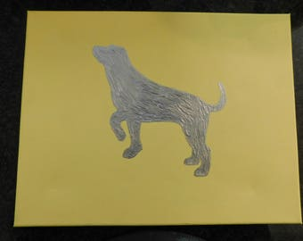 yellow with lab- large