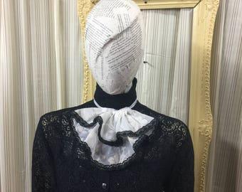 Victorian collar Jabot Steampunk cream sheer Elegant Gothic Lolita cosplay Geechlark 5077