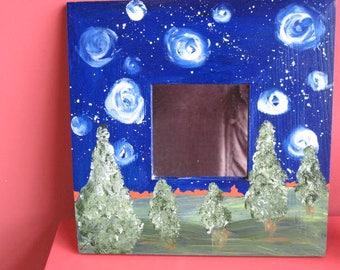 Handpainted Mirror- Starry Night - Wall Mirror