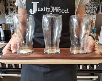 Modern Beer Tasting Tray   Beer Flight   Walnut   Maple   Handmade   Gifts For Him