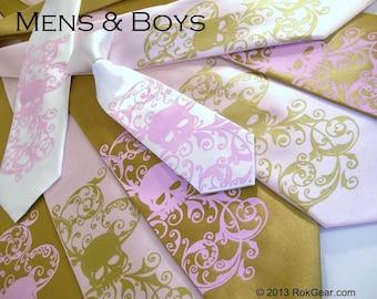 RokGear Skull Neckties - Skull ties. Mens and boys tie set